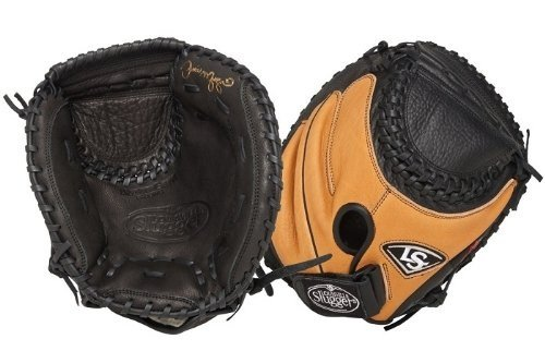 Both Sides of Louisville Slugger 33-Inch FG M2 Softball Catchers Mitts
