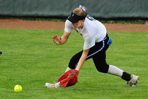 Female Outfield Softball Player