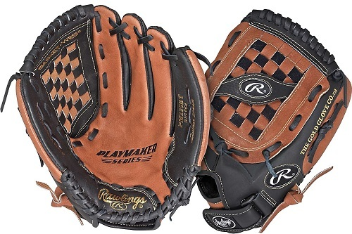 Sides of Rawlings Playmaker Series 13 Inch Softball Pattern Glove