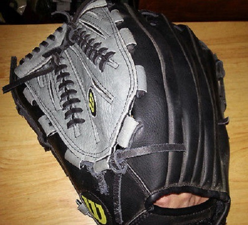 Wearing Wilson A360 Series 14 Inch WTA03RS16 14 Slowpitch Softball Glove